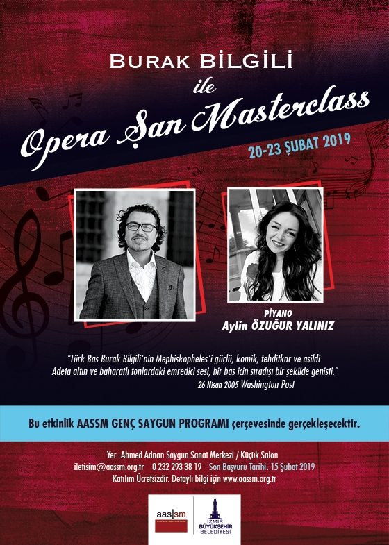 Burak Bilgili ile Opera Şan Masterclass