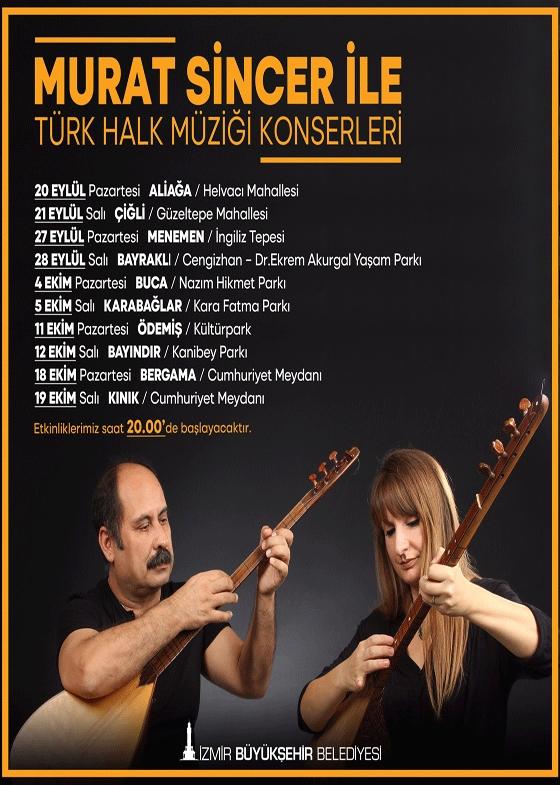 Murat Sincer ile Türk Halk Müziği Konserleri